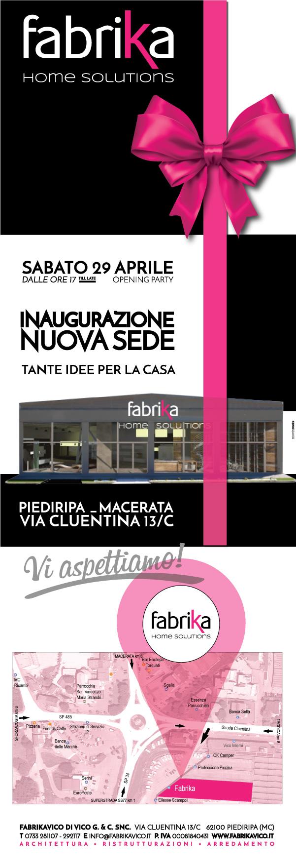 FABRIKA home solutions Macerata Piediripa inaugurazione